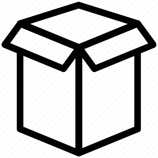 box, cardboard box, carton, open, packing box icon