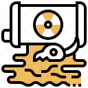 danger, radiation, nuclear, energy, tank icon