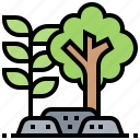 ecology, environment, forest, restoration, tree icon