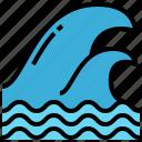 dangerous, disaster, flood, tsunami, wave