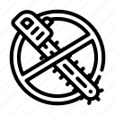 chainsaw, crossed, deforestation, global, out, stop, warming icon