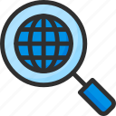 earth, find, globe, planet, search, world icon