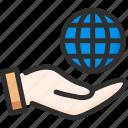 earth, globe, hand, hold, world