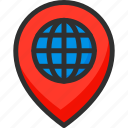 earth, globe, location, pin, place, pointer, world