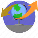 geography, globe, map, world icon
