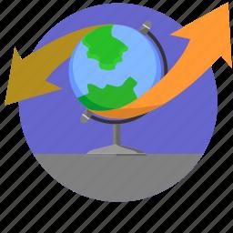 geography, globe, map, world icon
