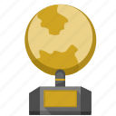 geo, globe, gold, monument icon