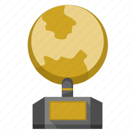 geo, globe, gold, monument icon