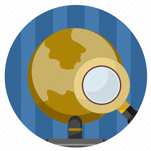 find, globe, map, place, search, world icon