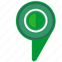 geo, green, location, pointer icon
