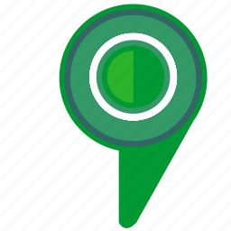 geo, green, location, pointer icon