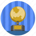 globe, gold, home, monument icon