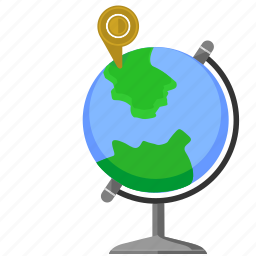 country, geo, globe, point, world icon