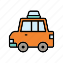 car, taxi, traffic, travelling icon