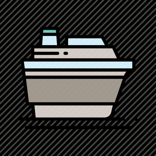 boat, liner, ocean, travelling, voyage icon