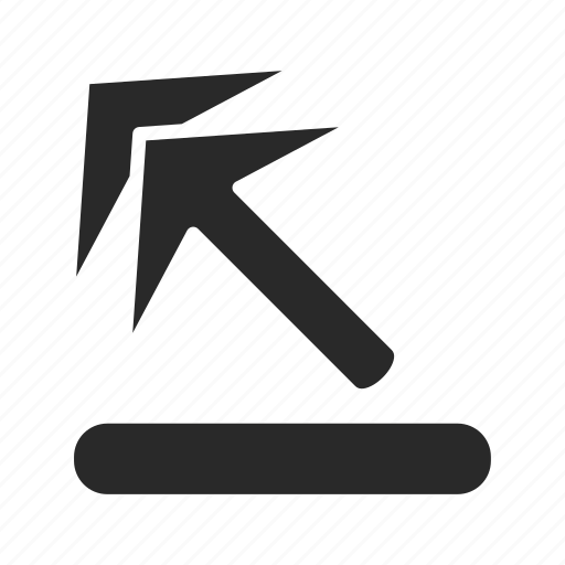 arrow, arrow-up-left, direction, left, pointer, sign, up icon
