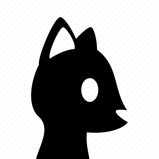 animal, cat, domestic, head icon