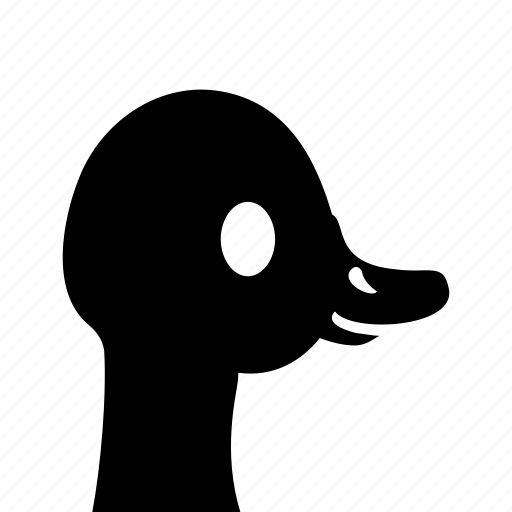 animal, bird, domestic, goose, head icon