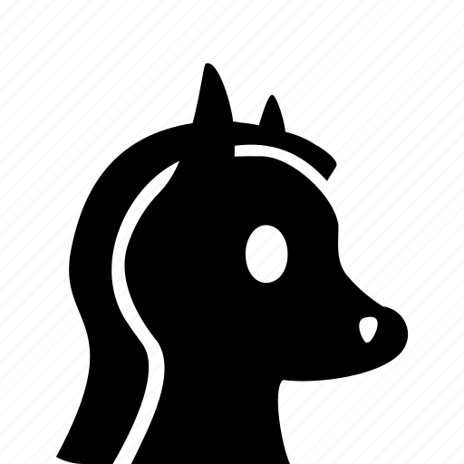 animal, domestic, head, horse icon