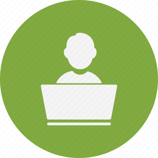 account, laptop user, user icon
