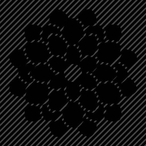 bloom, dahlia, flower icon