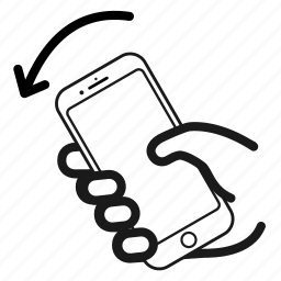 bump, direction, left, orientation icon