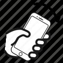 bump, direction, orientation, right icon