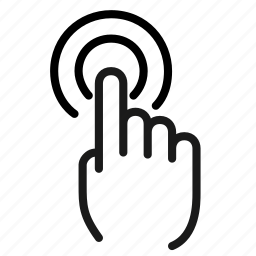 double, finger, fingers, gesture, screen, tap, touch icon