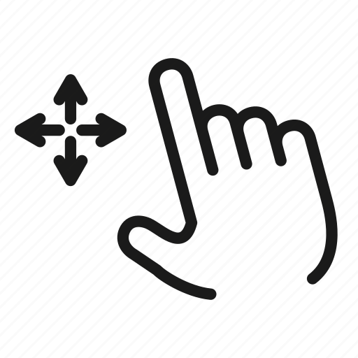 arrow, direction, drag, gesture, gestures, hand, touch icon
