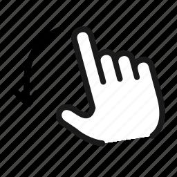 down, flick, move, navigation, pin icon