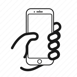 call, hold, iphone, message, mobile, phone, smartphone icon
