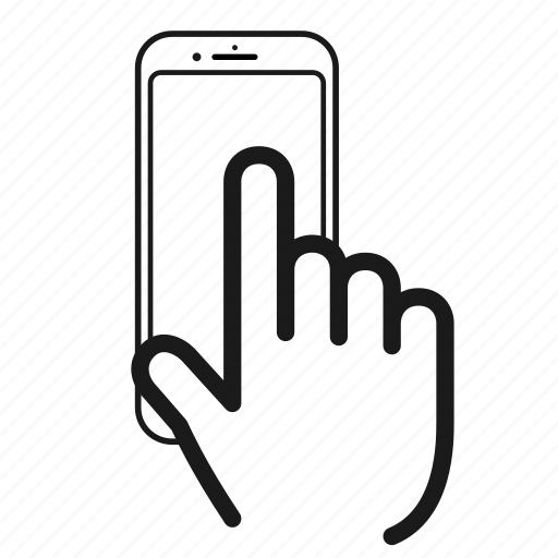 gesture, iphone, mobile, phone, screen, telephone, touch icon