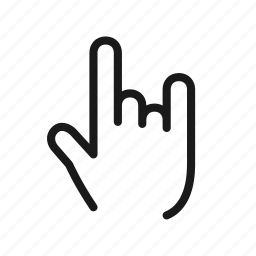 back, gesture, hand, media, music, play, rock icon