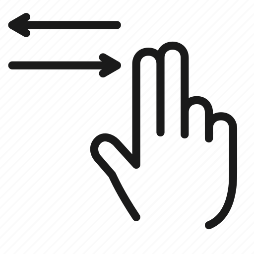 gesture, hand, horizontal, interaction, scroll, swipe, touch icon