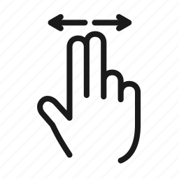 gesture, hand, horizontal, interaction, slide, swipe, touch icon