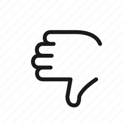 back, dislike, gesture, hand, thumbdown icon
