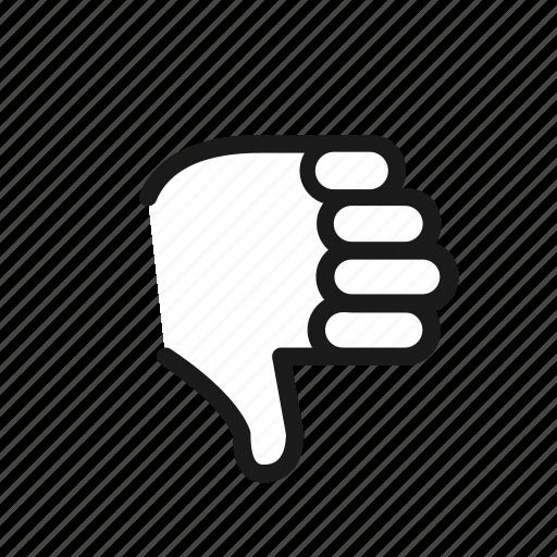 dislike, front, thumbdown icon