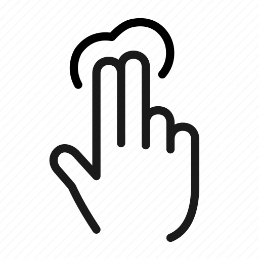 fingers, gesture, gestures, interaction, mobile, tap, touch icon