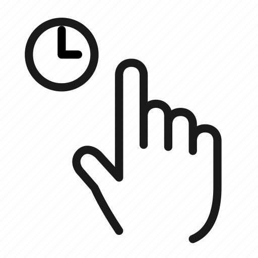 gesture, hand, interaction, waiting icon