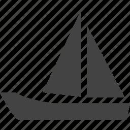 boat, fish, sea, travel icon