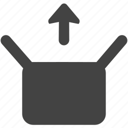 box, open, up icon