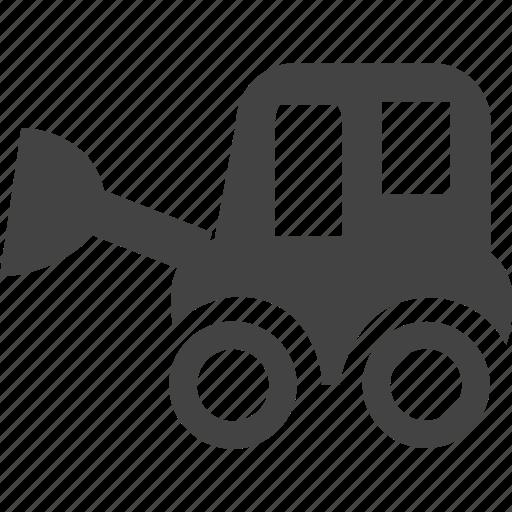 bulldozer, cartoon, heavy, iron, steel icon