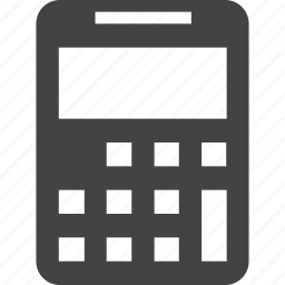 calculator, machine icon