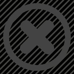 button, cancel, delete icon