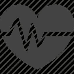 cardiogram, clinic, doctor, health care, heart, hospital, medicine, nurse, suitcase icon