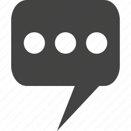 bubble, chat, message, text, voice icon