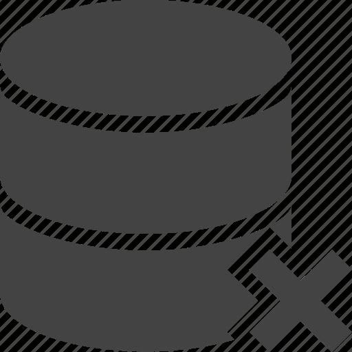database, delete icon