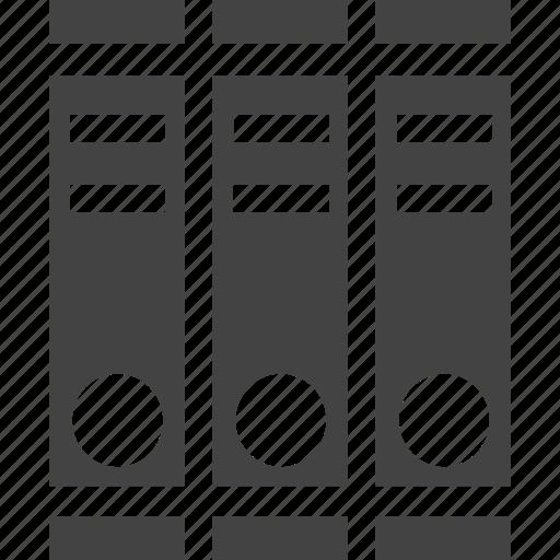 drawer, folder, paper icon