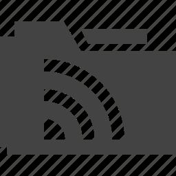folder, rss icon
