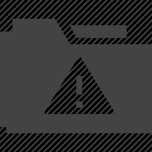 folder, warning icon